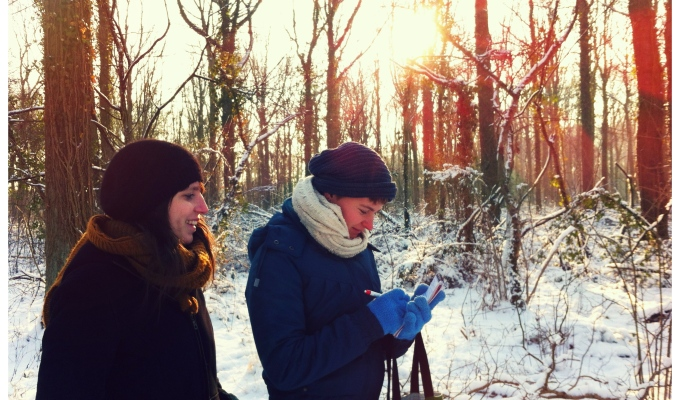 edible landscape in desneeuw