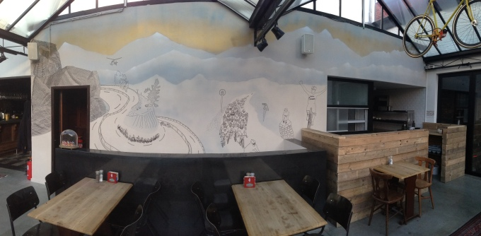 new wallpainting @ de Pelgrim