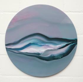 170123, 50cm diam, acryl on linen, 2017