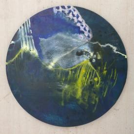 171127, 60cm diam, oil on canvas, 2017